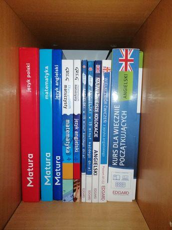 Książki matura, j angielski, matematyka, polski
