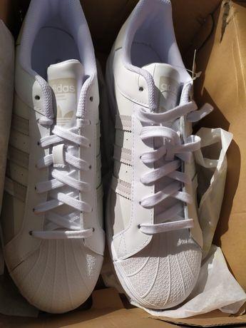 Кожаные кроссовки Adidas superstar grey FY8790