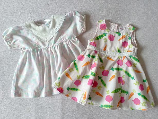 2 Sukienki letnie + GRATIS rozmiar 74