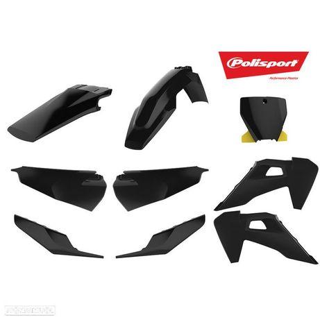 kit plasticos polisport preto husqvarna fc 250 / 350 / 450