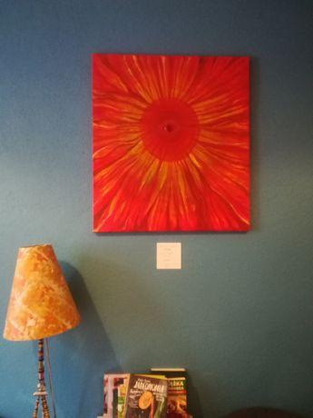 Obraz Energetyczna Mandala Solarna 90x80 Magdalena Kozak ART malarstwo