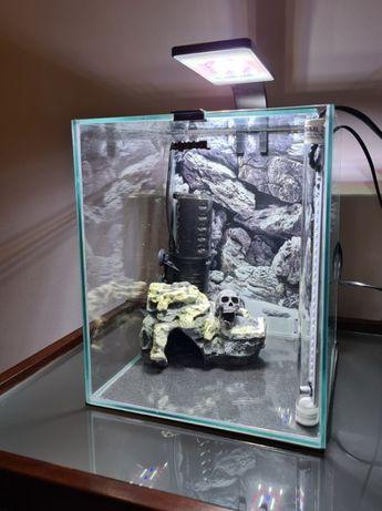 AQUAEL Akwarium z Nowoczesnym oświetleniem Led Filtrem Grzałką 20L