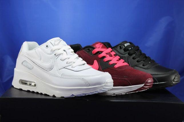 Женские,подростковые кроссовки Nike Air Max,белые,черные,бордовые,найк