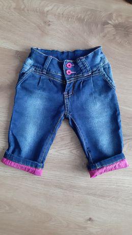Spodenki jeansowe, spodnie, szorty jeans 98/104