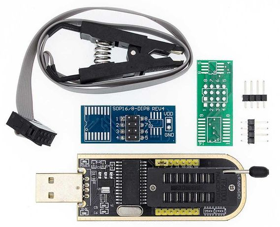 USB программатор CH341A + прищепка