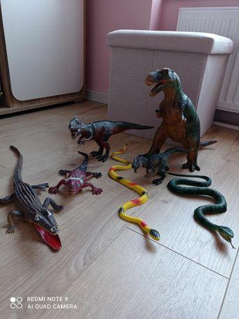 Набор динозавров игрушки резиновые