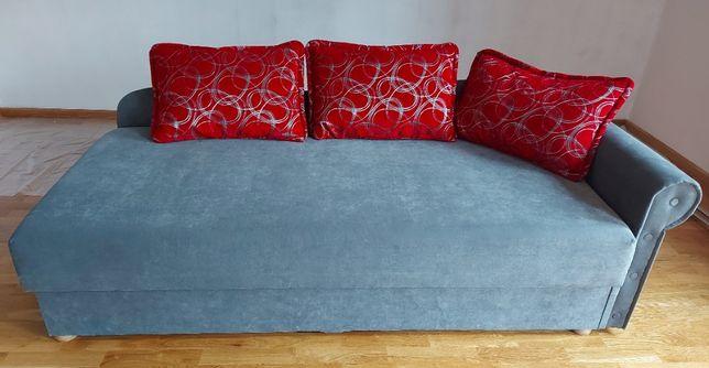 Łóżko pojedyncze w kolorze szarym i fioletowym