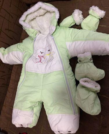 Дитячий зимовий комбінезон, зимний комбез детский, зимняя одежда