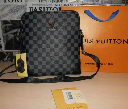 Skorzana męska torba Listonoszka Louis Vuitton, skóra, Francja LV 147