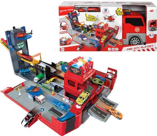 Dickie Toys 2 в 1 Пожарная машина. Разверни город Дикки 3719005