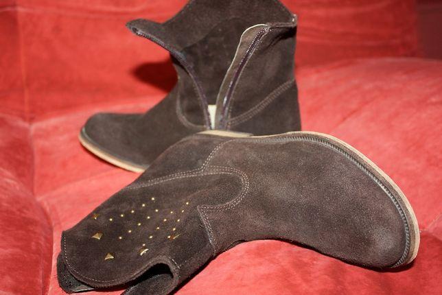Детские НОВЫЕ замшевые казаки, сапожки, обувь, взуття, ботинки