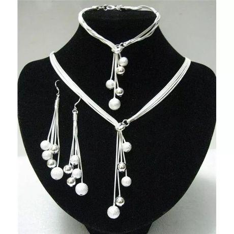 Srebrny zestaw biżuterii