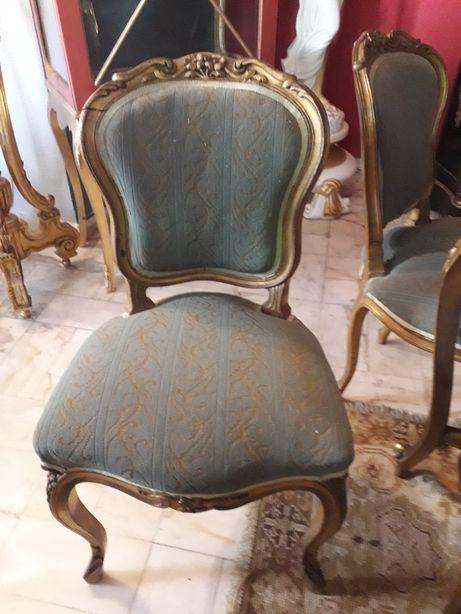 6 cadeiras em talha