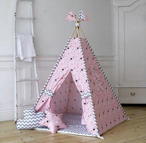 Цена комплекта с ковриком! Вигвам игровой. Палатка детская