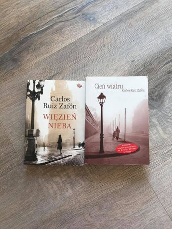 """""""Więzień nieba"""" + """"Cień wiatru"""" - Carlos Ruiz Zafon"""