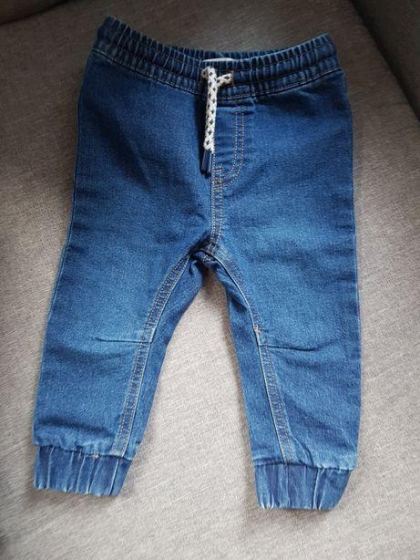 Jogersy dżinsy spodnie jeansowe Reserved 80 nowe