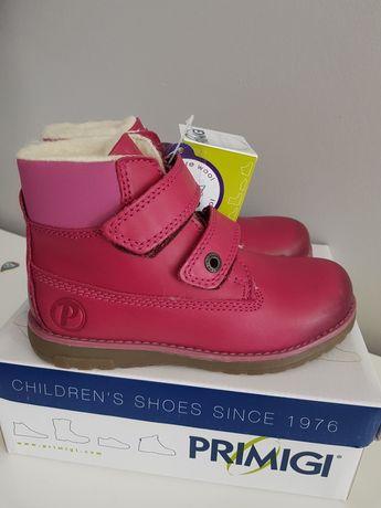 nowe buty zimowe botki dziewczęce skórzane primigi r31