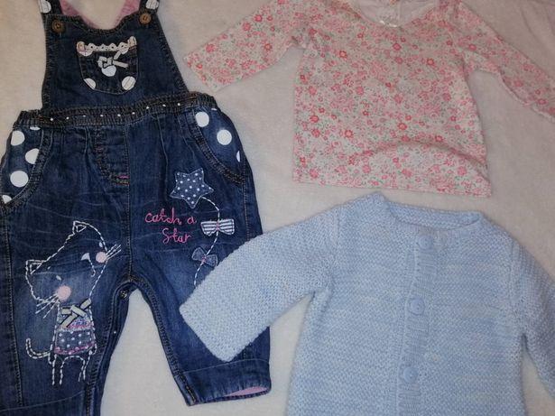 Пакет одежды комплект джинсовый комбинезон Next 3-6