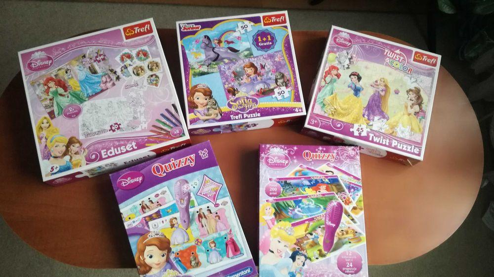 Zestaw puzzle gra interaktywna 5szt Disney Clementoni Łódź - image 1