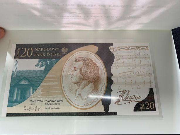Banknot 20 zł Chopin