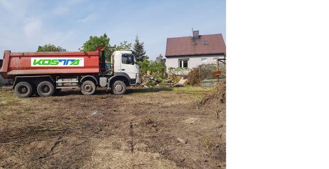 Karczowanie czyszczenie działek wycinka drzew koszenie traw