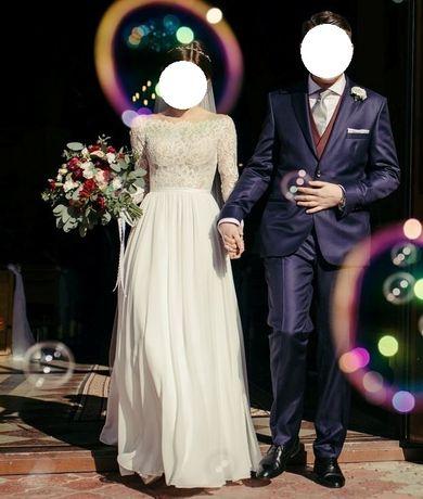Suknia ślubna ivory + welon gratis