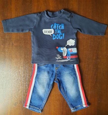 ZESTAW, dres - Bluza i spodnie rozmiar 62