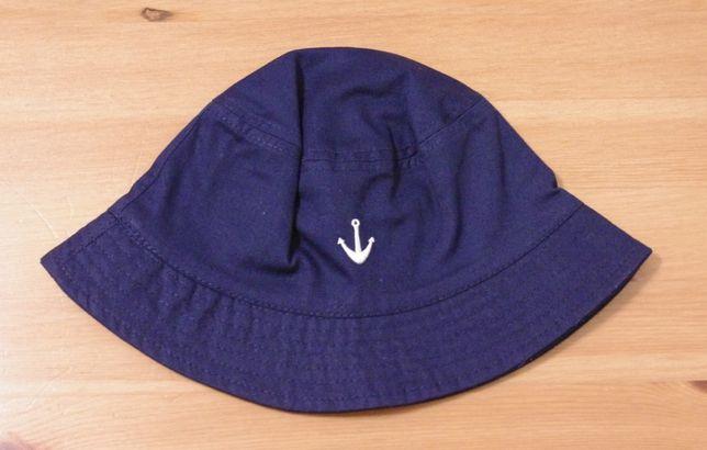 kapelusz H&M hm granatowy morski kotwica lato bawelna 110 / 116 4 lata