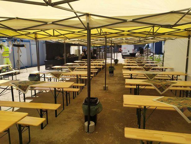 Komplet piwny stół rozkładany ławy namioty Rollbar nalewak jbl wynajem