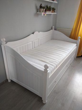 Łóżko białe 200x90 100 młodzieżowe stelaż + materac dla dziewczyny