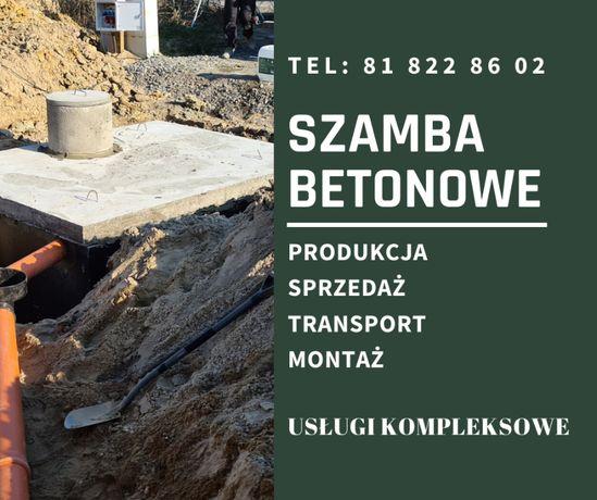 Szamba-Producent,zbiornik betonowy na deszczówkę ,szambo betonowe