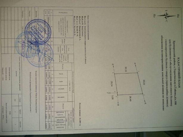 Продам участок под застройку с.Тарасовка, ул. Гайова, Броварской р-н