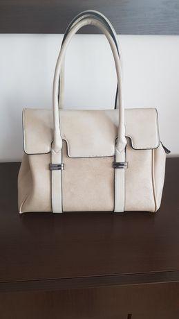 Beżowa pojemna torebka