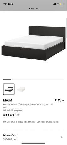 Quarto completo MALM IKEA cama cómodas e mesas cabeceira