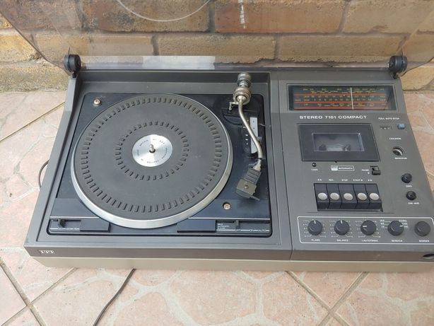 ITT Stereo 7101 compact gramofon radio kaseta