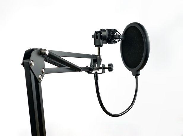 Микрофонная стойка пантограф , пластиковый «паук» и поп-фил
