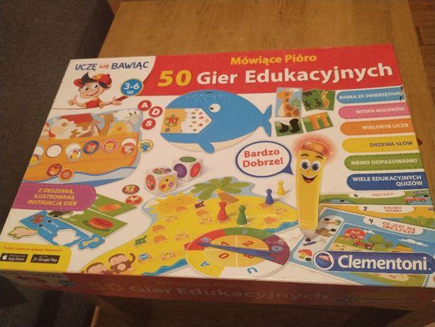 Mówiące pióro 50 gier edukacyjnych Clementoni