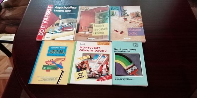 Książki różne remonty.