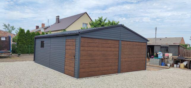 Blaszak 6x6: Drewnopodobny 6*5.8 garaż