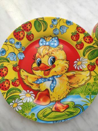 Дитячий посуд Bona Di фарфор тарілка тарелка чашка кружка