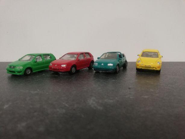 SIKU Resoraki Samochodziki Autka zestaw Volkswagen Polo Golf New Beetl