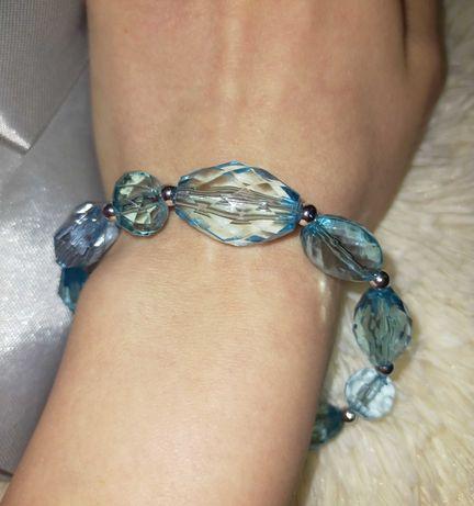 Piękna nowa kryształowa bransoletka handmade
