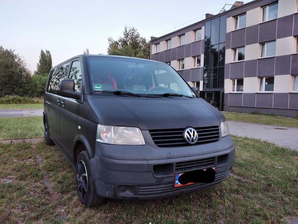 VW T5, 9os, fabryczny lpg, bezawaryjny, 10-12L gazu/100km, długi-3400