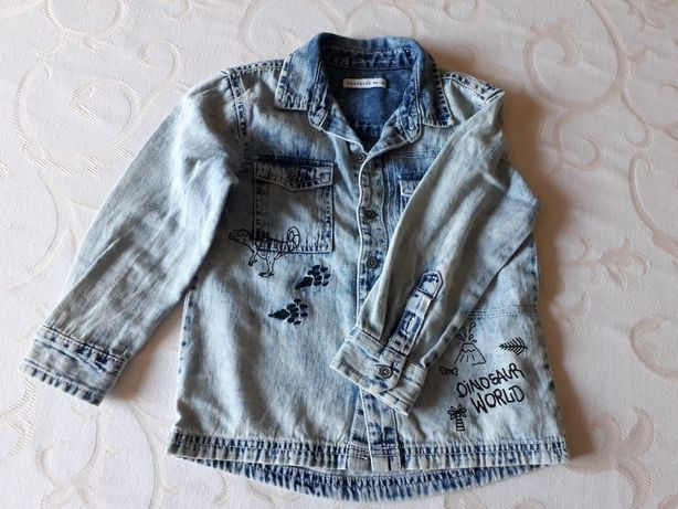 Koszula przecierany jeans r 104 reserved ideał