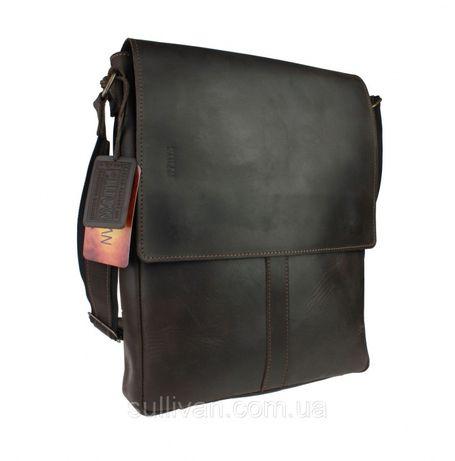 Кожаная мужская сумка А4 ручная работа натуральная кожа Sullivan
