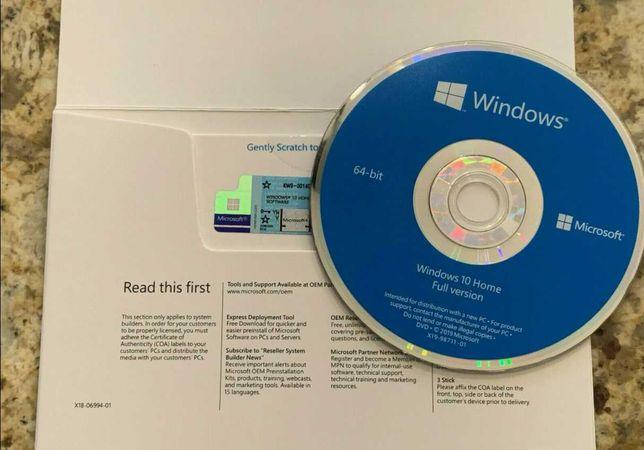 Windows 10 Pro DVD e Licença Original I Vitalício I Multi-Idiomas