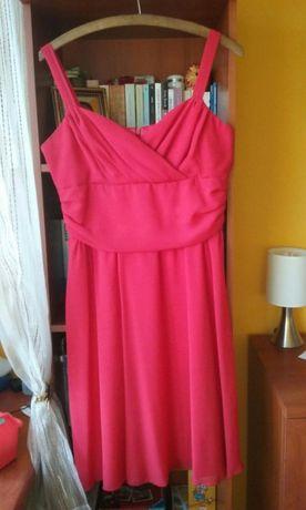 Czerwona sukienka sylwester wesele chrzciny