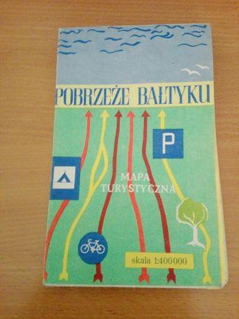 Mapa turystyczna Pobrzeze Bałtyku