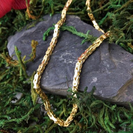 Złoty łańcuch, splot królewski - pełny, złoto 585, dł. 55cm