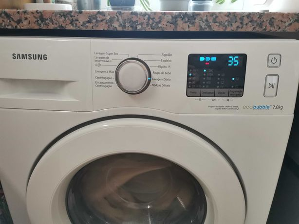 Máquina de Lavar Roupa Samsung Eco Bubble, 7 kg